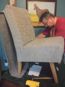 Shaun Recovering a bedroom chair